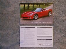 2007 Corvette Callaway Supercharged Color Card NEW