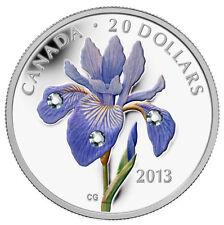 2013 Canada $20 Fine Silver Coin - Blue Flag Iris
