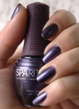 New Sparitual STEEL MAGNOLIA Frosted Deep Purple Blue Nail Lacquer Polish VEGAN