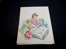 Vintage Unused Norcross Xmas Greeting Card Angels Making Music Book