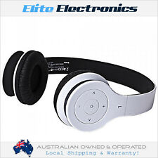 LASER AO-30BT-WHT WIRELESS BLUETOOTH 3.0 STEREO HEADPHONE HEADSET FOLDABLE WHITE