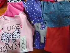 #27) Lot of 5 New pcs Infant 12 Months Baby Girl Clothing Pants Tops Pajamas
