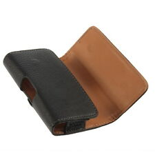Black Belt Clip Magnetic PU Leather Case Pouch Cover For Apple iPhone 4 4S FE