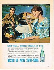PUBLICITE ADVERTISING 044  1961  BASSIN DE VICHY SAINT-YORRE    eau minérale