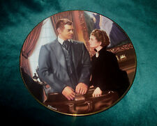 """Gone With The Wind Critics Choice Collector's Plate """"At Cross Purposes"""" COA/NIB"""