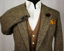 Harris Tweed Blazer Jacket M&S Wedding Country Horse Races 44S SUPERB TWEED 395