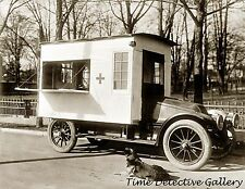 Red Cross Canteen Food Truck - circa 1910 - Historic Photo Print