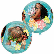 "16"" Film Disney MOANA Hawaiano Children's Party Sfera Palla forma Foil Balloon"