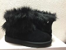 UGG CLASSIC VALENTINA BLACK SUEDE FULLY FUR LINED Boot US 6 / EU 37 / UK 4.5