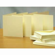 Craft UK blank greeting cards & envelopes - square 8 x 8 inch ivory colour x 25