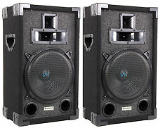"NEW VM Audio VAS310P 1200 Watt 3 Way 10"" DJ Passive Loud Speaker System (PAIR)"