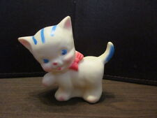 Vintage White Kitten - CAT Rubber Squeak toy - RUTH B NEWTON THE SUN RUBBER CO.