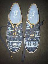 NWOT Women's Taylor Swift Signed Keds Running Shoes 8 Sneakers Fair Isle Blue