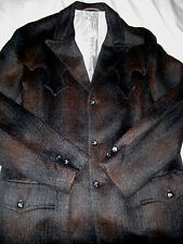 PIONEER WEAR CUSTOM MADE MOHAIR WOOL WESTERN YOKED ROCKABILLY LINED JACKET-LN-M