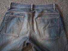 Men's DIESEL ITALY RAVIX Medium Wash Distressed Look Bootcut Jeans 31