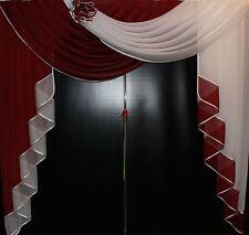 Deko - Gardine, Store, Vorhang in der Farbe bordeaux / weiss