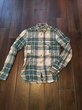 BURBERRY BRIT TAILORED FIT WINTER CHECK SHIRT. RARE BLUE C/W. SMALL