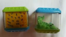 Fisher Price-Peek a Boo Blocks • 2 squares • Alligator + one that makes sound