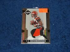 T.J. HOUSHMANDZADEH BENGALS 2008 LEAF LIMITED THREADS PRIME JERSEY PATCH 20/50