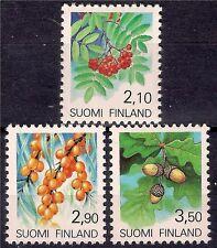 Finland 1991 Mountain Trees Shrubs Regional Flowers Fruits Plants Nature 3v MNH