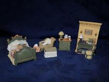 "Miniature Furniture 'BEDROOM"" 6 Piece Set By Avon Collectible Victorian Memories"