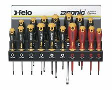 Felo 400 917 43 Screwdriver Set Slotted/Phillips/PoziDriv®/Torx® with Wall Rack