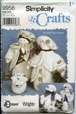 Elegant Snow People - Man, Woman and Child - Simplicity Sewing Pattern