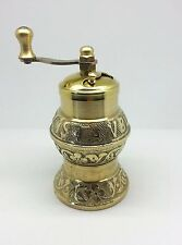 Traditional SOZEN Turkish Handmade Pepper Salt Grinder Mill BRASS 12cm 4.40""