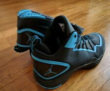 NIKE AIR JORDAN SUPER FLY II 2 PO SZ 11.5 BLACK DARK POWDER BLUE 645058 006