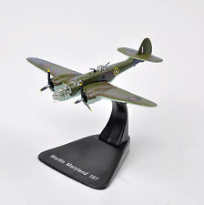 1:144 Atlas WWII Martin Maryland 169 Military Army Fighter Aircraft Diecast Toys