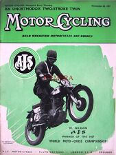 Nov 28 1957 A.J.S. Motor Cycles ADVERT W Nilson Moto Cross Champ: Magazine Cover
