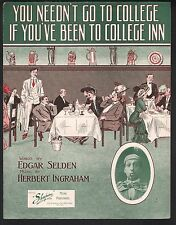 You Neednt Go To College If You've Been To College Inn 1911 Ed Wynn Large Format