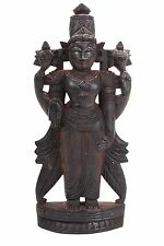 Südindien 20. Jh. Holzfigur - A Carved Wood Figure of Vishnu, South India - Inde