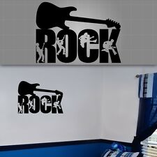 "Rock Guitarist Wall Sticker, Rock n Roll Sticker, Boys Room Decor - 30"" x 22"""