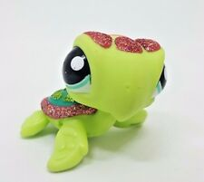 Littlest Pet Shop Glitter Sparkle Turtle Blue Eyes #2149 Preowned LPS Hasbro