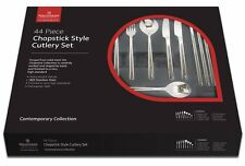 Grunwerg Chopstick Style 44 Piece Cutlery Set Knives Forks Spoons Tea 44BXCHP
