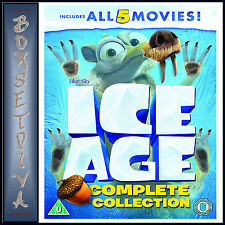 ICE AGE 1 - 5 COMPLETE COLLECTION *BRAND NEW DVD BOXSET *