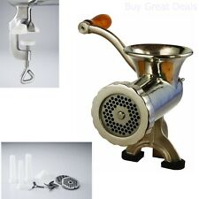 LEM Products #10 MEAT GRINDER, Stainless Steel Clamp On Heavy Duty HAND GRINDER