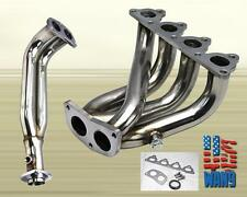 Fit Civic/Crx/Del Sol D-Series S/S Steel 4-2-1 Racing Header Exhaust Manifold
