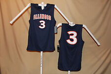 ILLINOIS ILLINI  Basketball Jersey  #3   size Large   by Knights Apparel   NWT