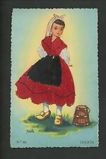 Embroidered clothing postcard Artist Iraola, Spain, Galicia woman #63