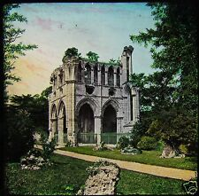 HAND COLOURED Glass Magic Lantern Slide DRYBURGH ABBEY C1890 SCOTLAND