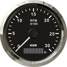 85mm Black KUS Tachometer 0-3000rpm for diesel engine CMHB-BS-3KL (SV-KY07005)
