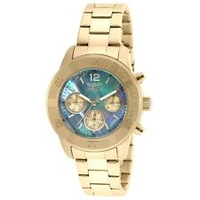 Invicta Women's Angel Chronograph 100m Gold Plated Stainless Steel Watch 21612