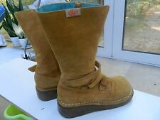 Womens eXit Tan Leather Zip Boots Size EUR 38 (7 M)