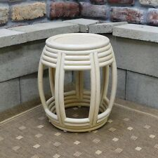 Brand New Handcrafted Wicker Barrel Table