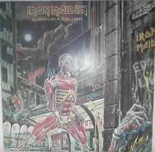 IRON MAIDEN LP VINYL SOMEWHERE IN TIME 1986 SPANISH COVER VERY RARE ARGENTINA