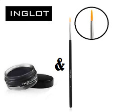 INGLOT Set of AMC Gel Eyeliner (Black 77) and fine Brush 23T for precise lines