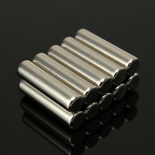 10X Cylinder Strong Round Neodymium Rare NdFeB Earth Fridge Magnets N42 5x20 mm
