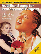 Audition Songs for Professional Singers Women Female Book Piano Sheet Music CDs
